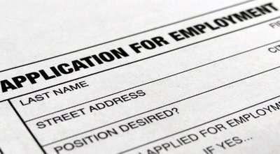 job application sheet