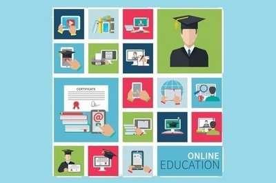 online education mockup