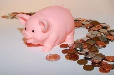 piggy bank, saving money, coins