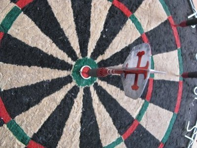 bulls eye on dart board