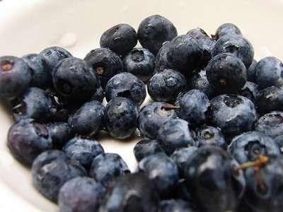 Blueberries high in Vitamin C
